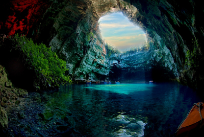 Melissani Cave in Kefallonia, Greece