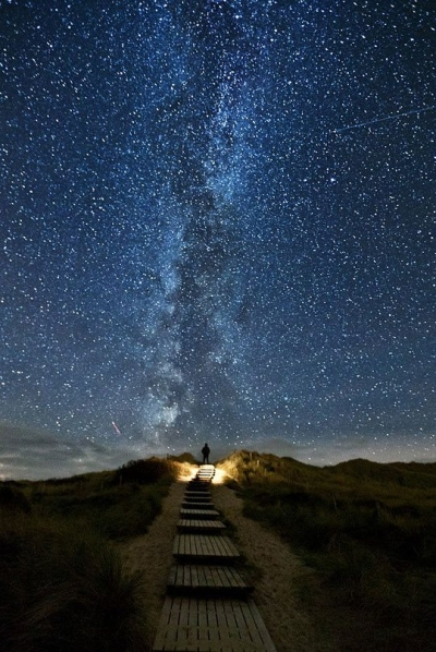 The Milky Way, seen from the North Sea coast