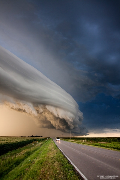 Amazing cloud formation, Nebraska