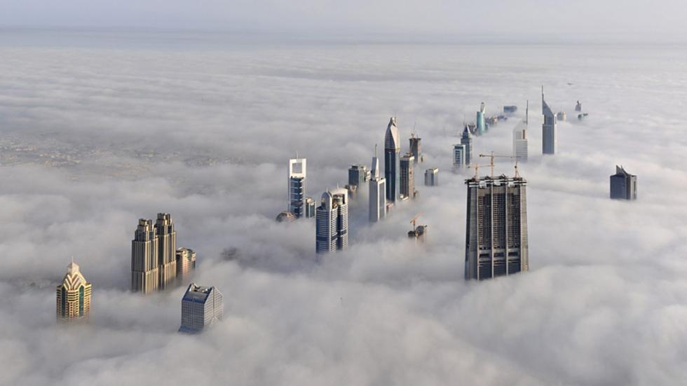 Dubai, a view from the skyscraper Burj Khalifa