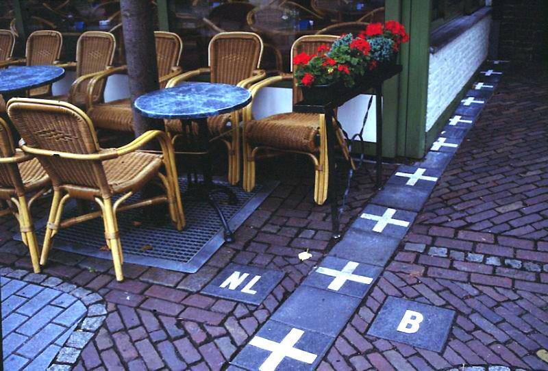 The border between Belgium and the Netherlands