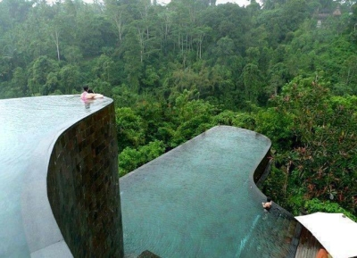 Jungle pool in Ubud Hanging Gardens Luxury Resorts, Bali