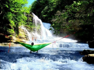 Waterfall hammock