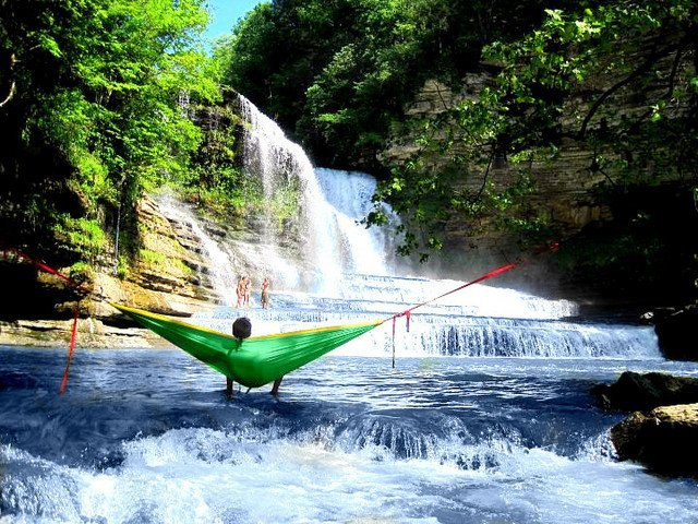 Waterfall hammock