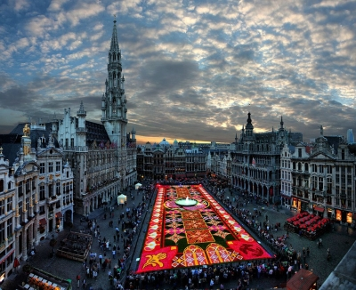 Biggest carpet of flowers in the world, Brussels, Belgium