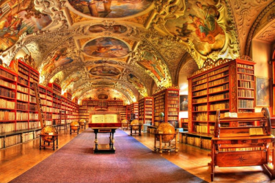 Inside the Strahov Library, Prague