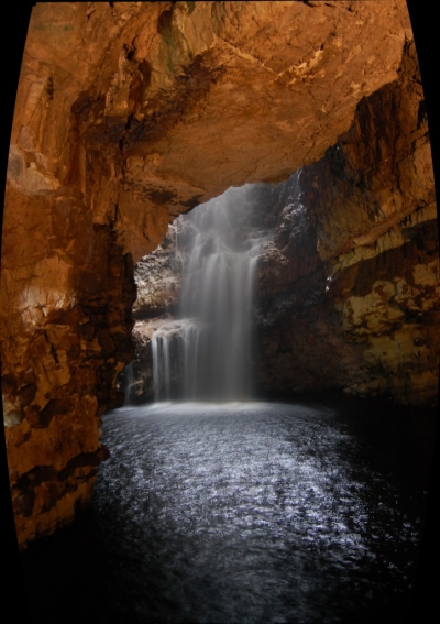 Smoo Cave Waterfall, Scotland