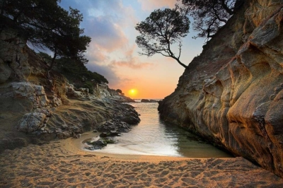 Sunrise on Costa Brava, Spain
