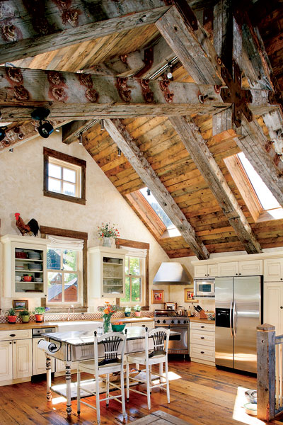 Timber home country kitchen, Montana