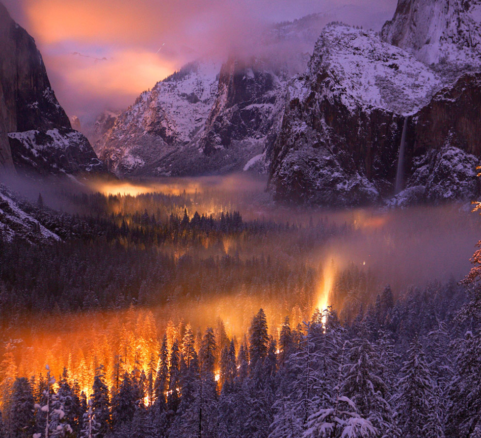 Yosemite Valley at dusk