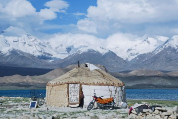 Yurt along the Silk Road, China