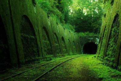 Abandoned railroad tunnel, France