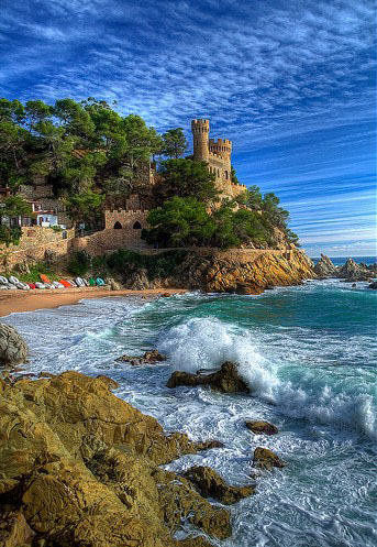 Tossa De Mar castle, Costa Brava, Spain