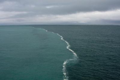 Merging oceans, Alaska