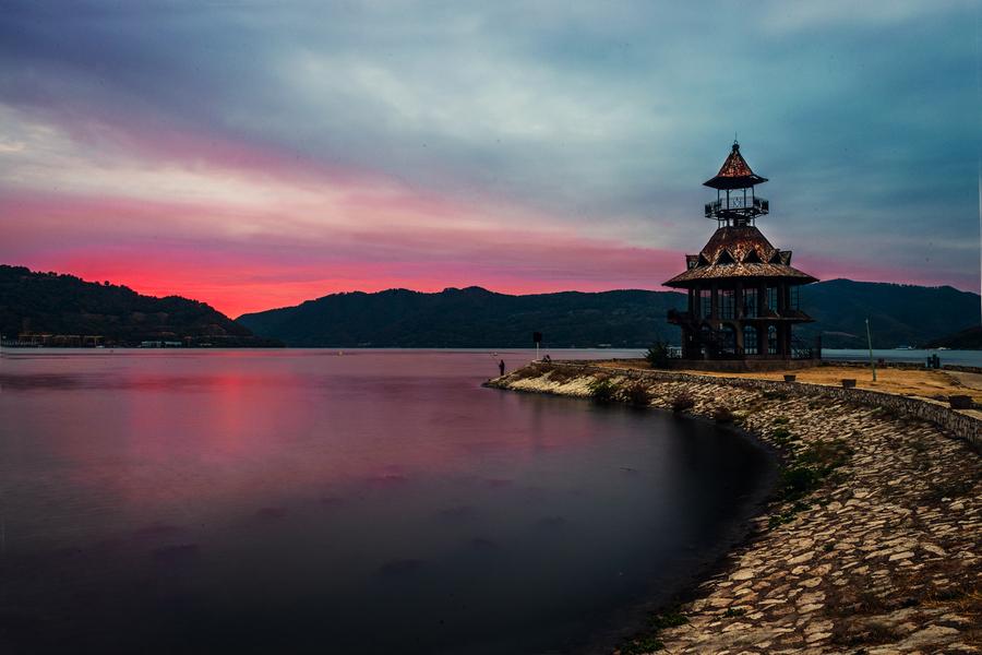 Sunrise in Orsova, Romania