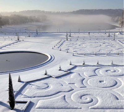 Versailles in winter, France