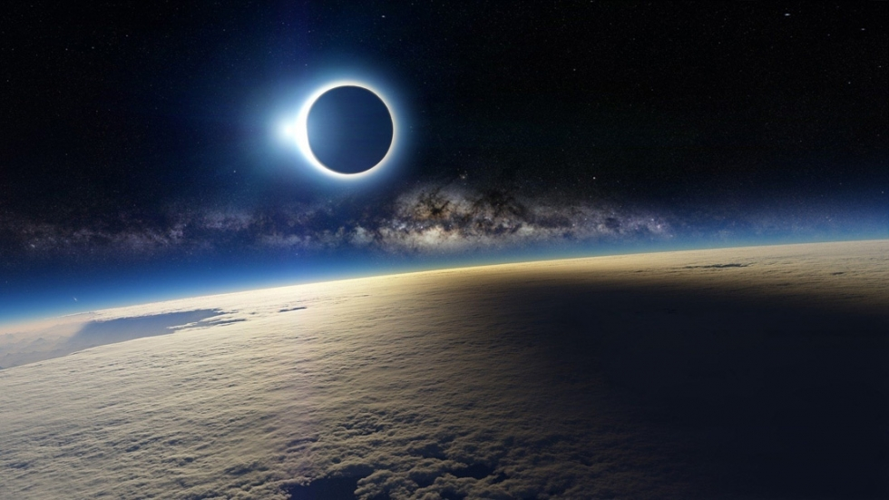 November 2012 solar eclipse seen from space