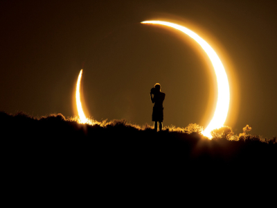 Solar eclipse, Albuquerque, New Mexico, USA