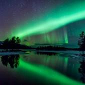 Aurora Borealis in Arjeplog, Lapland, Sweden