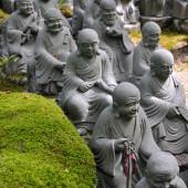Little Buddha statues at Miyajima, Japan