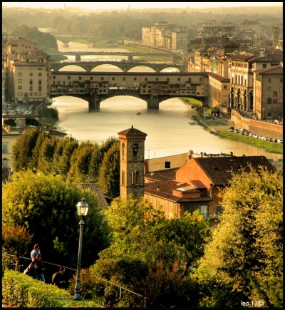 Overlooking the Arno in Florence, Italy