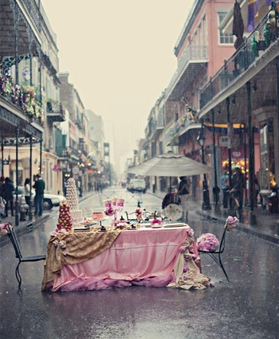 Rain and romance in New Orleans