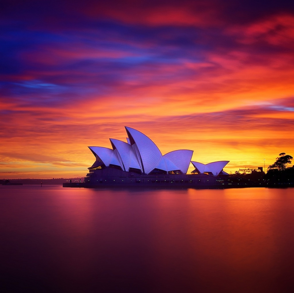 Sunrise over the Sydney Opera, Australia