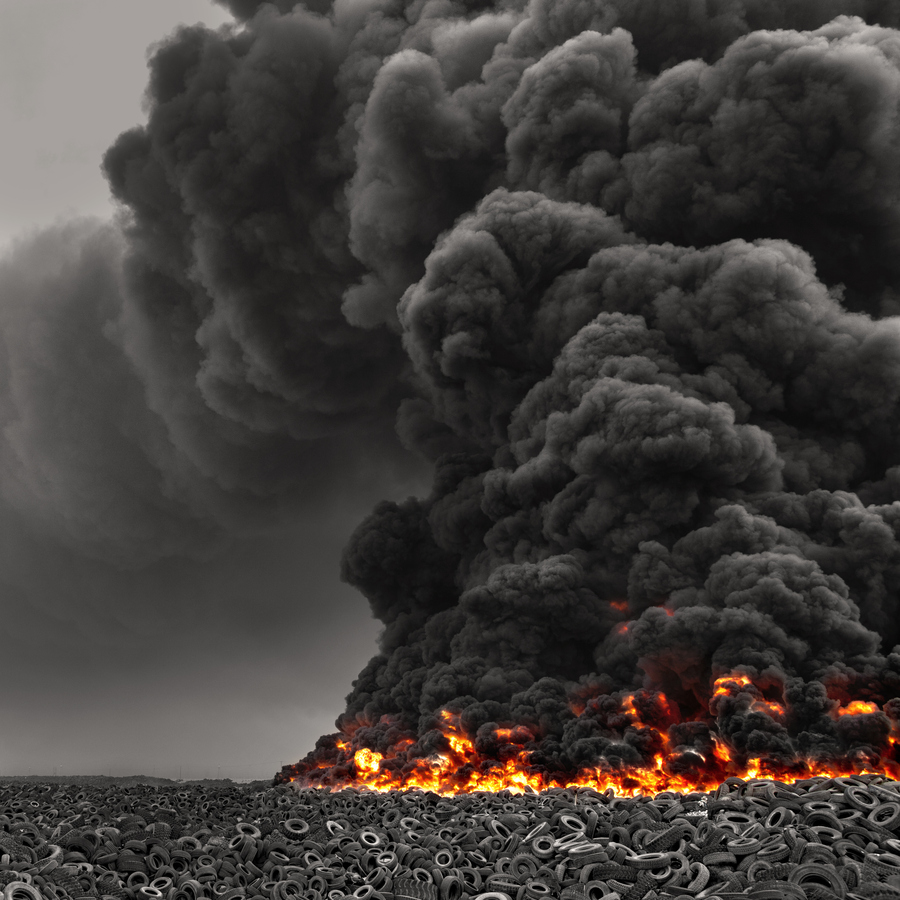 Tire fire in Kuwait