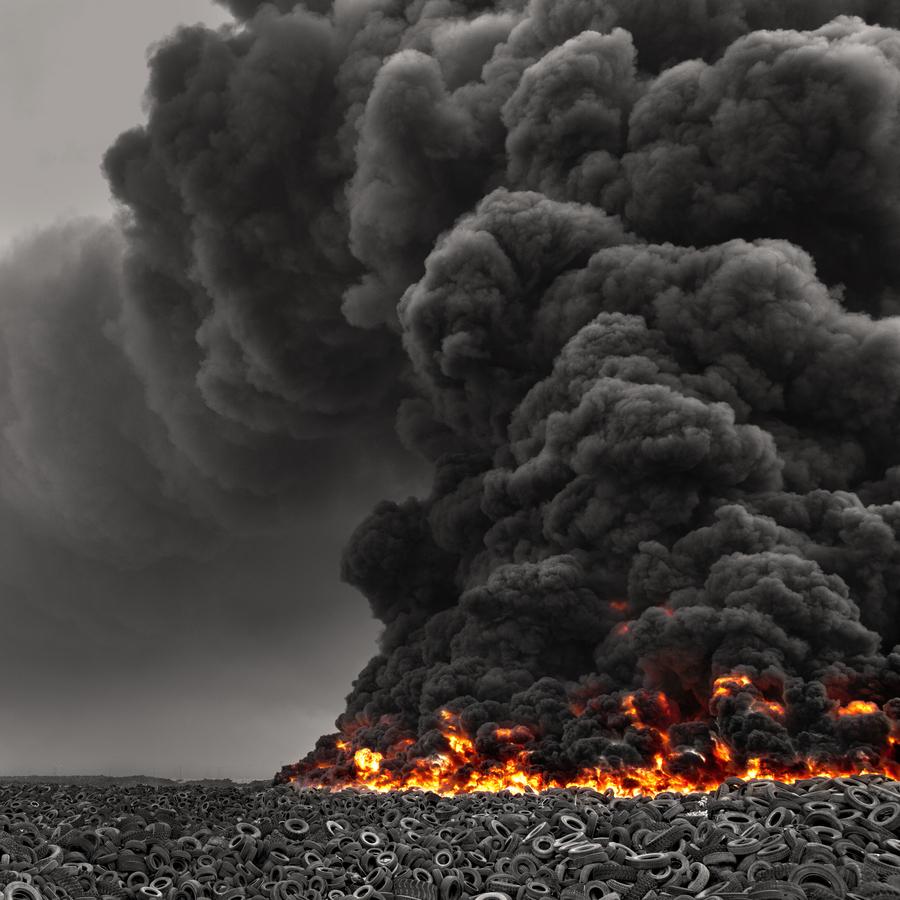 Tire fire in Kuwait