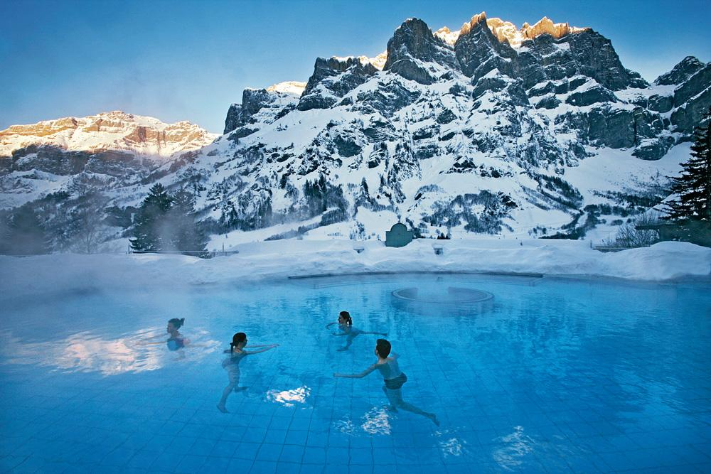 Leukerbad Switzerland  City new picture : Alpentherme Spa, Leukerbad, Switzerland photo on Sunsurfer