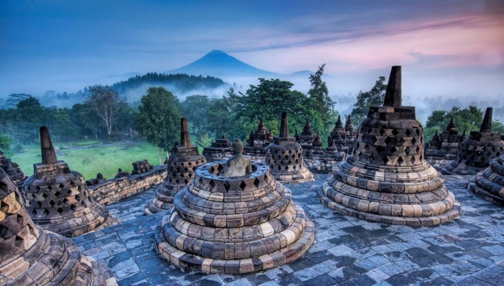 Borobudur Buddhist Temple, Indonesia
