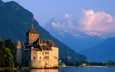Chateau Chillon, Lake Geneva, Switzerland