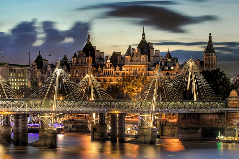 Golden Jubilee Bridges, London, UK