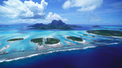 The natural beauty of the Bora Bora Island