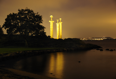 The Viking swords at Stavanger monument, Norway