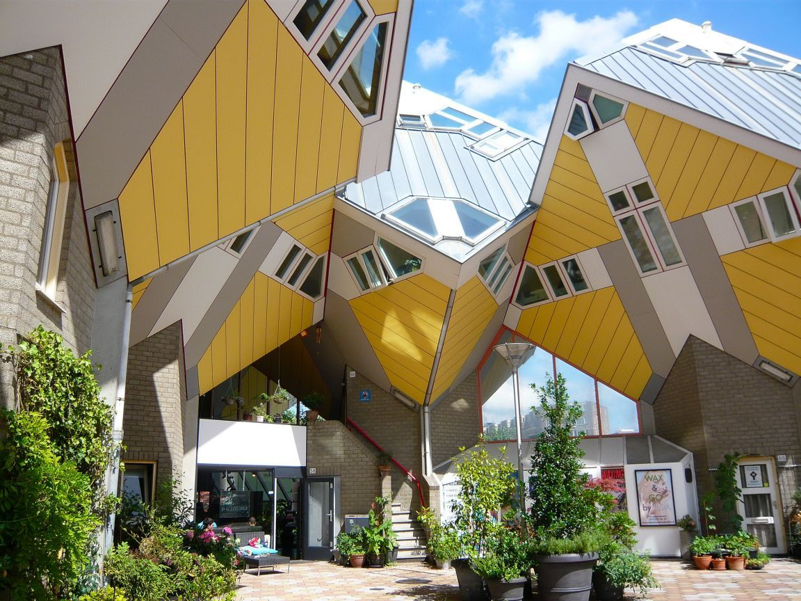 Cube houses of rotterdam netherlands photo on sunsurfer - The cubic home ...