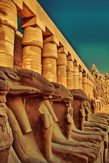 Ram-Headed Sphinxes, Karnak Temple, Luxor, Egypt
