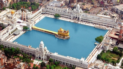 The Golden Temple (Harmandir Sahib) in Amritsar, Punjab, India