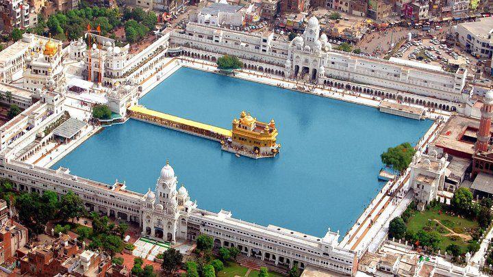 The Golden Temple (Harmandir Sahib) in Amritsar, Punjab, India