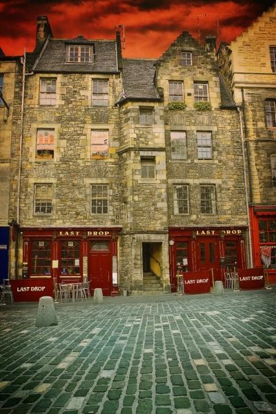 Medieval city of Edinburgh, Scotland