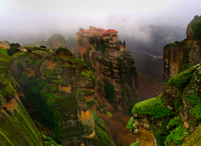 Mountain Mist, Meteora, Greece