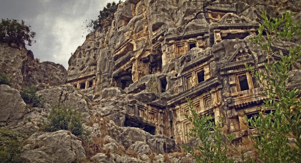 Necropolis, Demre Myra, Turkey