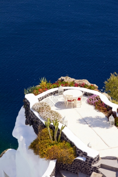 Santorini terrace, Italy