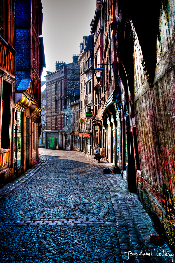Streets of Rouen, France