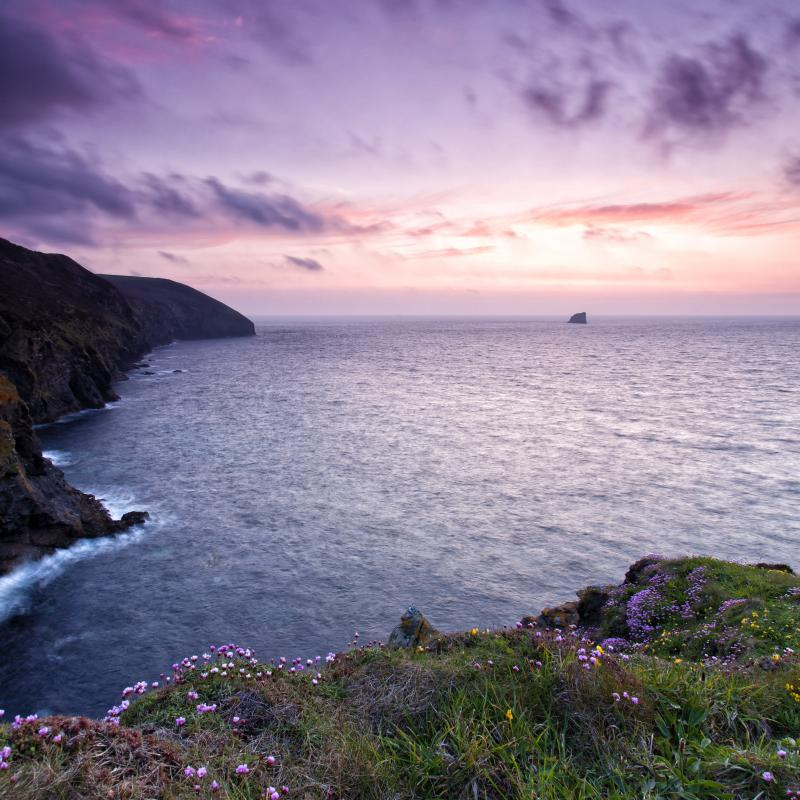 Sunset in St. Agnes, Cornwall, England