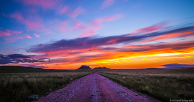 Sunset over the plains, Wyoming