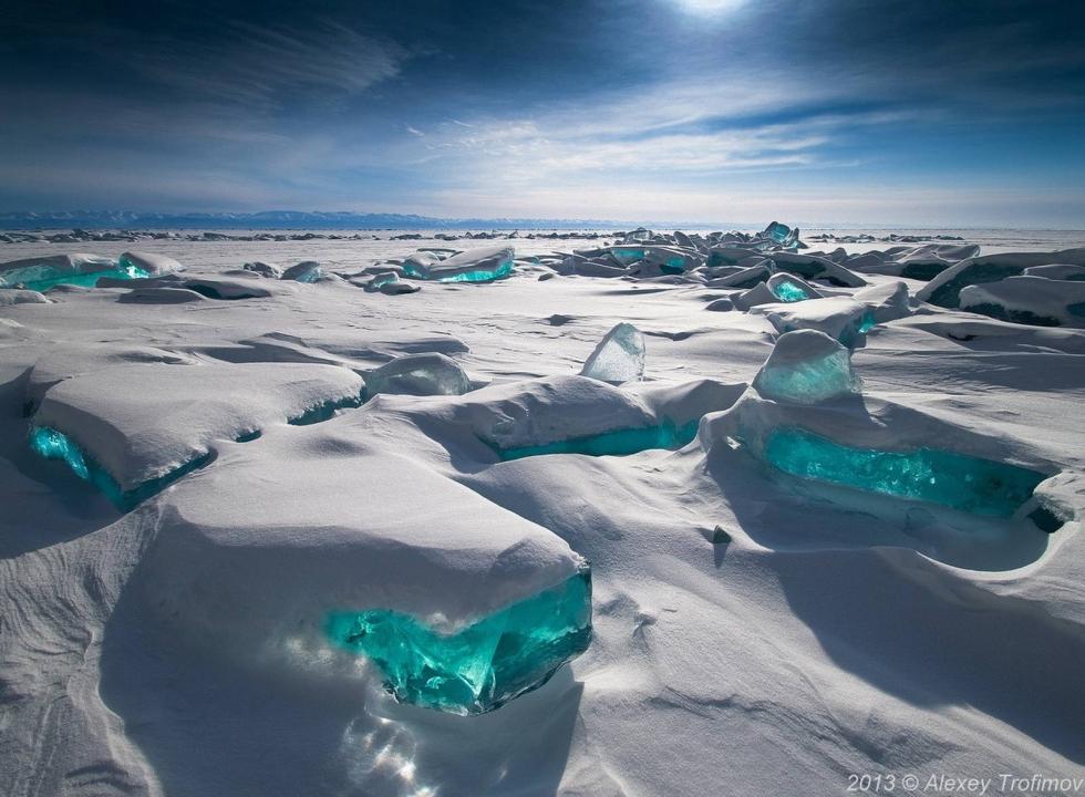 Turquoise Ice, Northern Lake Baikal, Russia