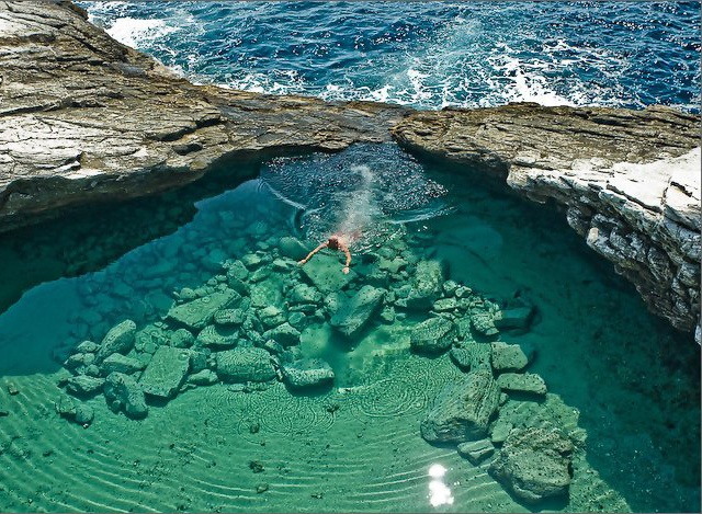 Turquoise Pool, Giola Lagoon, Greece
