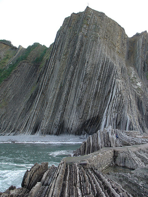 Zumaia beach, Basque Country, Spain