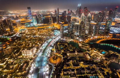 City lights, Dubai
